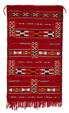 Moroccan Kilim Rug Zemmouri Wool Handwoven Small 116 cm x 70 cm / 3.8 ft x 2.3 ft (ZN1)